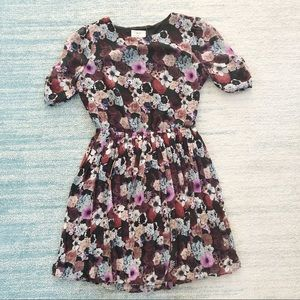 UO pins and needles pleated floral dress